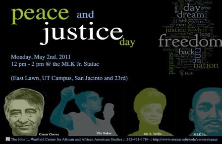 Peace and Justice Day [The location has changed to the Malcolm X. Lounge - JES A136]